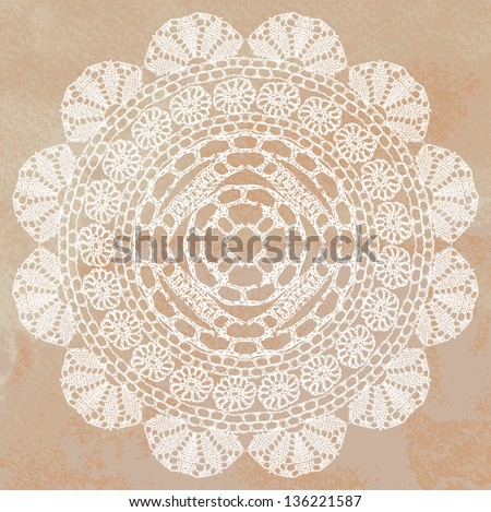 Vector template Invitation card