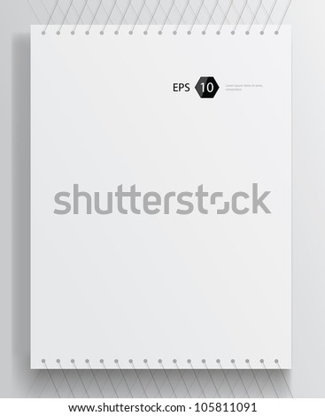 Vector template of a paper sheet (poster, picture frame)