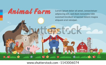 vector template of happy animal