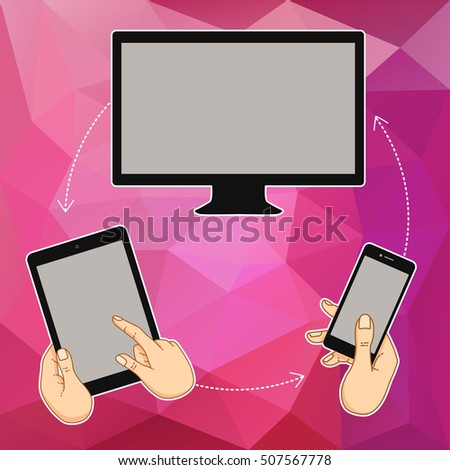 vector template of screen of