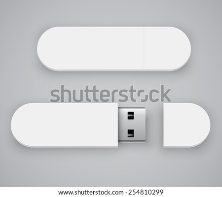 vector template of white blank