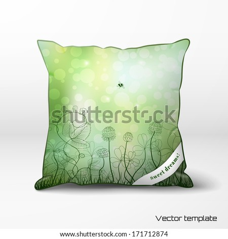 vector template pillow with