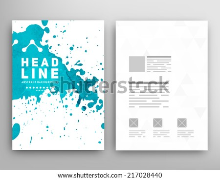 vector template poster