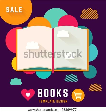 Shutterstock Vector template with open book