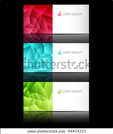 Vector Templates For Business Cards Or Advertising Message. Blank ...