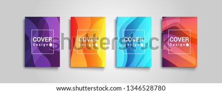 Vector templates for cover, catalog, brochure, poster, book, banners, flyers, presentations and reports. Abstract modern background.  #1346528780