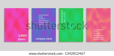 Vector templates for placards, banners, flyers, presentations and reports. Minimal abstract vector halftone cover design template. Future geometric gradient background. #1342812467