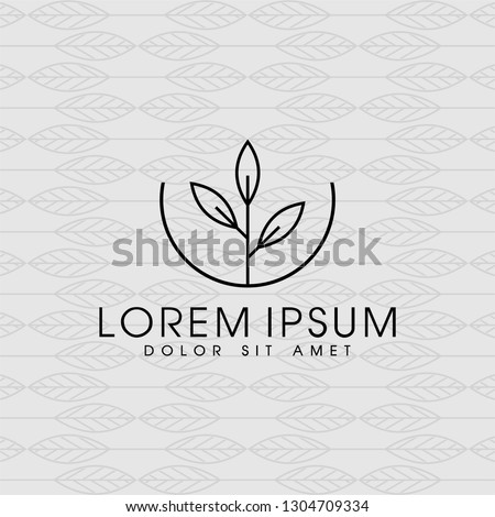 Vector templates of abstract green leaf logo designs - for medical, yoga, spa classes, beauty. Circles made with Vector leaves