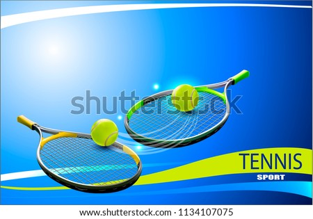 Vector tennis ball. A realistic object and sports background for posters, leaflets for world tennis competitions.Vector illustration.Sport equipment element.