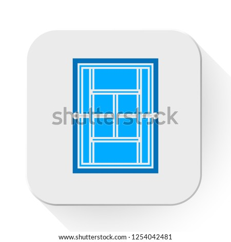 vector tennis court icon. Flat illustration of tennis court. play tennis isolated on white background. sport sign symbol - tennis field icon