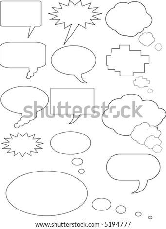 Vector text balloons
