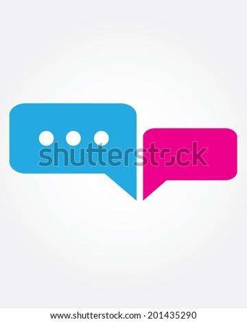 vector texting conversation