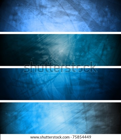 Vector textural banners in grunge style. Eps 10 - stock vector