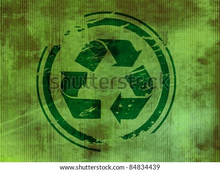 vector texture background of recycle symbol.
