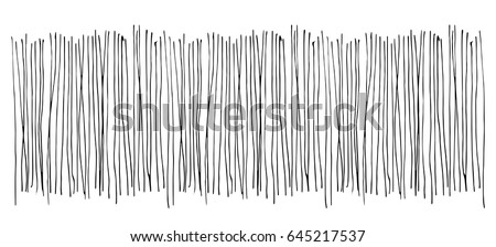 Vector. Texture. Monochrome hand drawing of vertical lines on a white background.