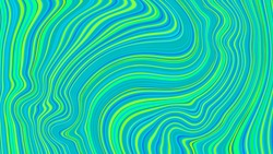 Vector texture of blue-green color, consisting of deformed thin stripes.