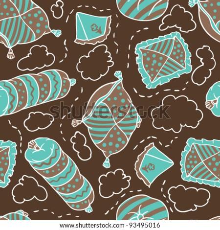 Vector texture of pillows