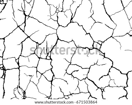 vector texture with many cracks