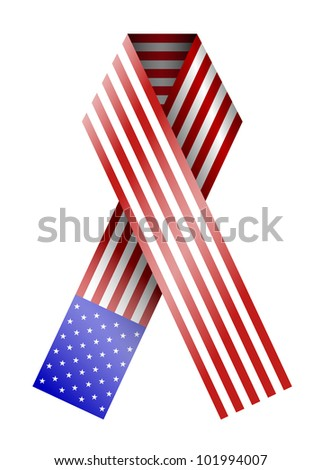 vector 4th of july ribbon isolated on white. eps10