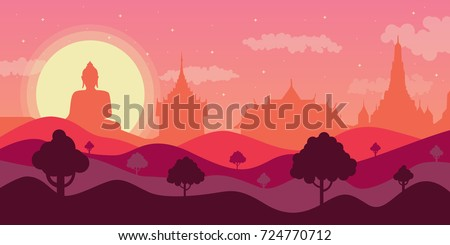 vector thailand landscape and