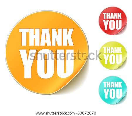 "vector ""thank you"" stickers"