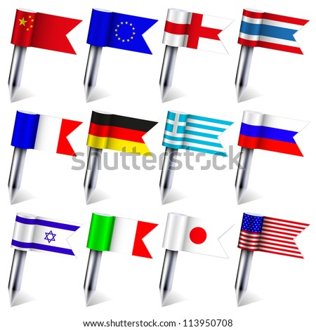 Vector. the flags of the world isolated on white background. Eps10