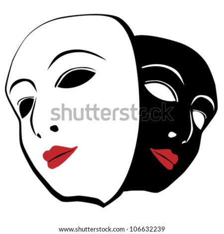 Vector theatrical masks