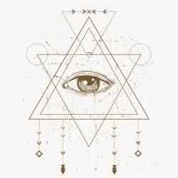 vector third eye sign