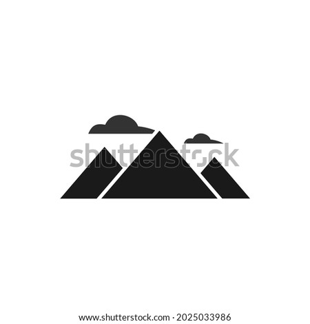 vector three mountains and