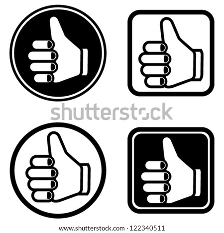 vector thumb up icons set