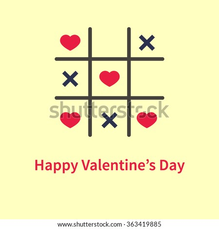 vector tic tac toe game with