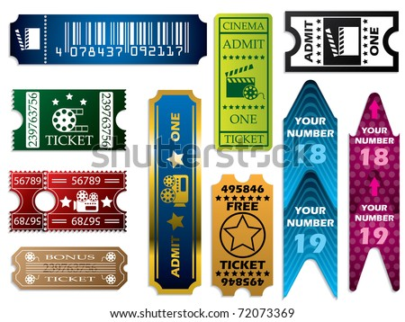 Vector ticket set