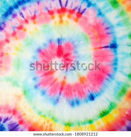 Vector Tie Dye Texture. Beautiful Fashion Bohemian Painting. Hypnotic Tie Dye Spiral Art. Abstract Dyed Fabric. Floral Hand Drawn Effect. Aquarelle Texture. Organic Fantasy Bohemian Texture.