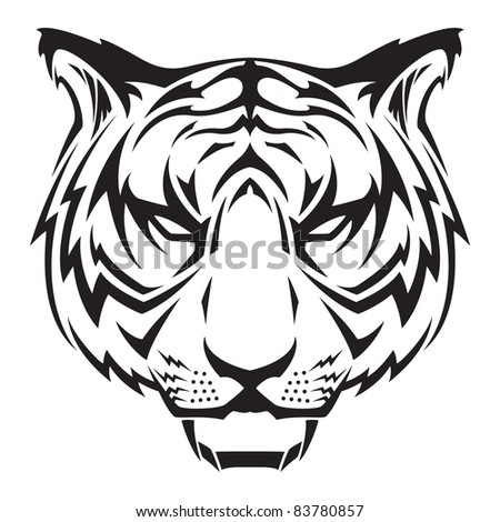vector tiger design