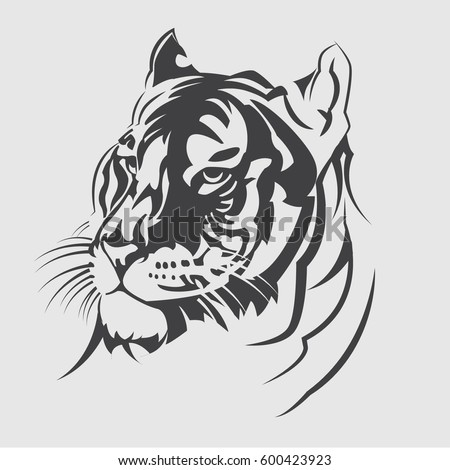 vector tiger head emblem  logo
