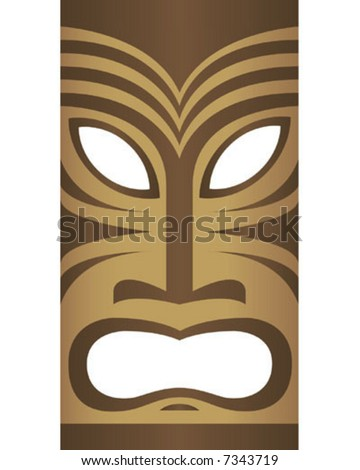Vector Tiki Mask