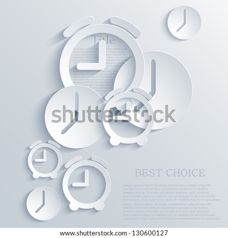 Shutterstock Vector time icon background. Eps10