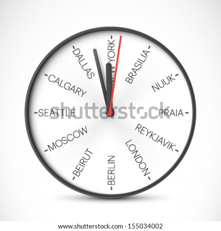 vector time zones