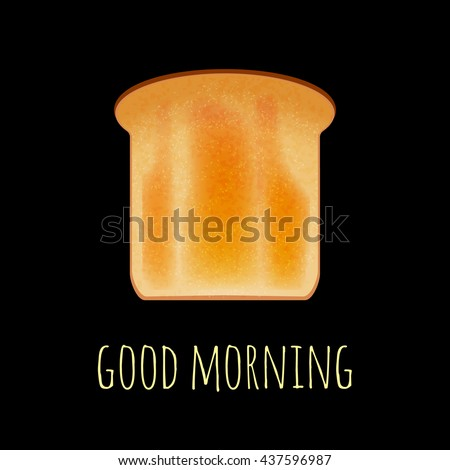 vector toast isolated on black
