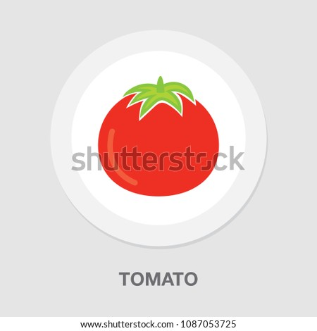 vector tomato illustration ...