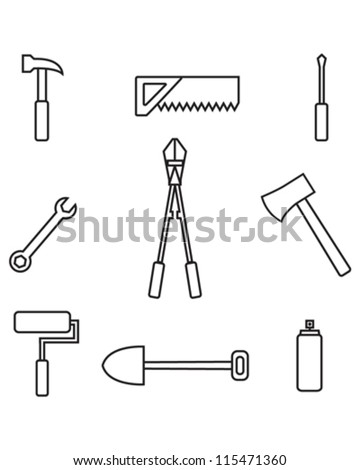 Vector tool symbols and icons.