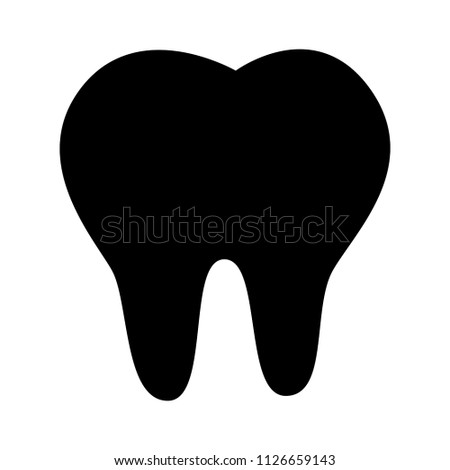 vector tooth illustration isolated. dentist sign, healthy symbol