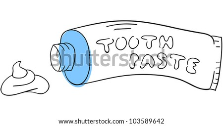 Vector toothpaste is isolated on a white background
