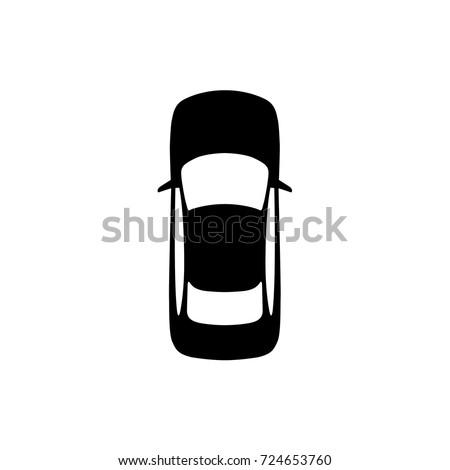 Vector top view of a car. Vehicle. Sedan.