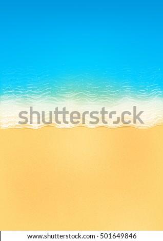 vector top view of calm ocean