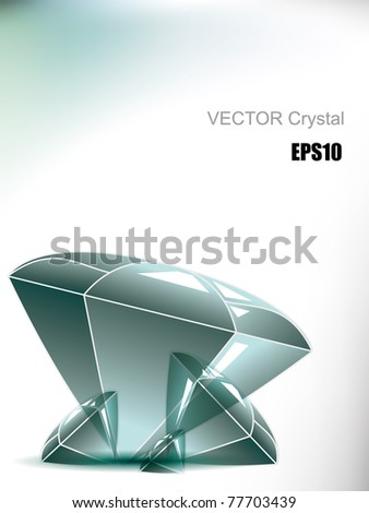 Vector topaz - stock vector