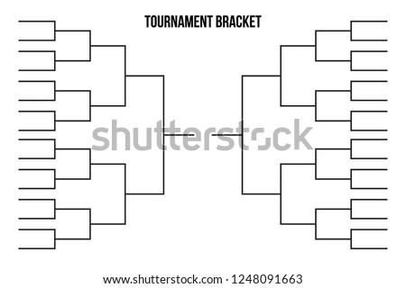 Vector tournament  bracket templates for 32 teams.