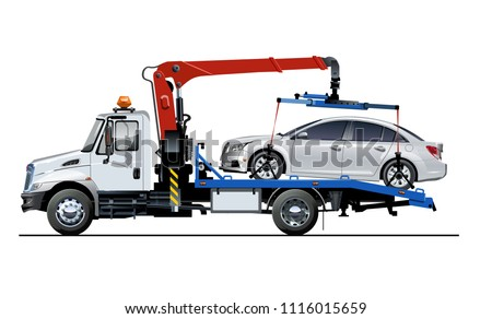 vector tow truck template...