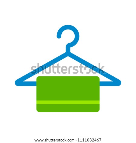 vector towel illustration isolated - bathroom sign symbol