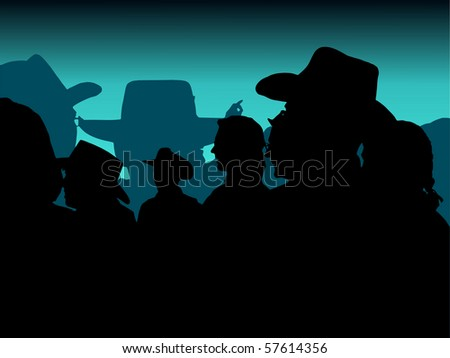 Vector trace of cowboy party photo